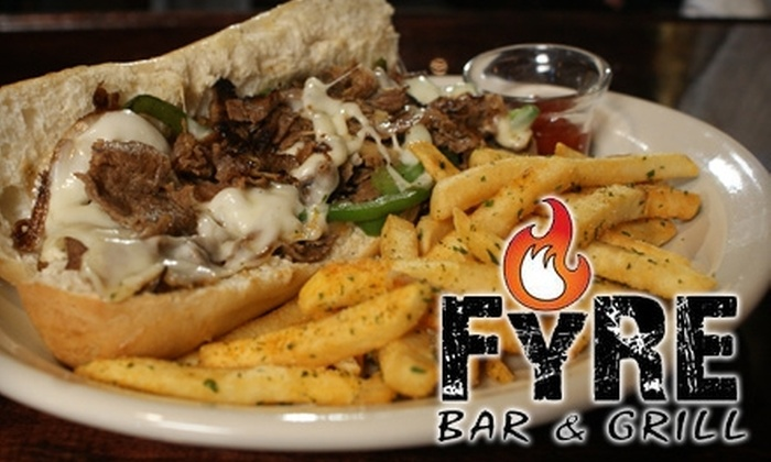 Fyre Bar & Grill - Gainesville: $7 for $15 Worth of American Fare at Fyre Bar & Grill