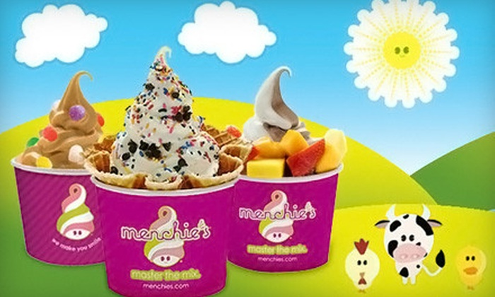 5 for frozen yogurt at menchies frozen yogurt
