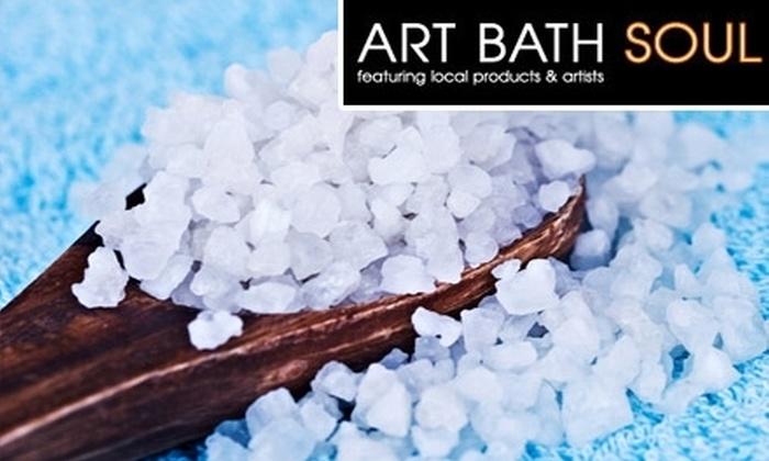 Art Bath Soul - Fisherman's Wharf: $9 for a Fragrant Bottle of Bath-Salt Art from Art Bath Soul ($18 Value)