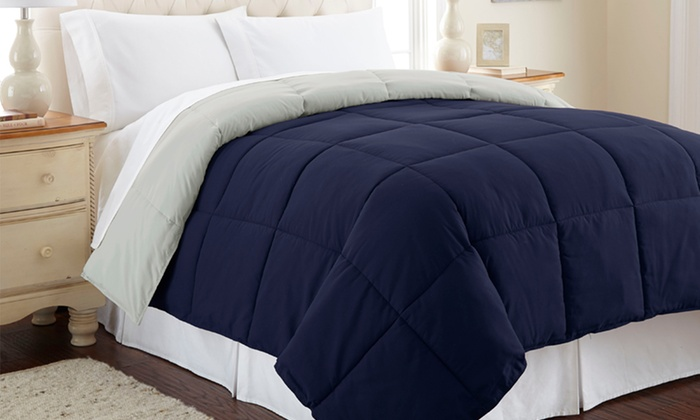 All Seasons Down Alternative Reversible Comforters | Groupon