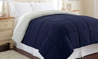 Groupon.com deals on All Seasons Down Alternative Reversible Comforters Twin