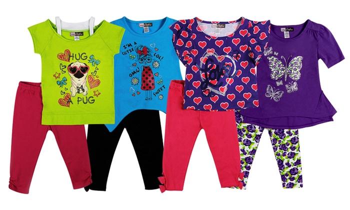 Baby Ziggles 2-Piece Girls' Toddler Sets: Baby Ziggles 2-Piece Girls' Toddler Sets. Multiple Styles Available. Free Returns.