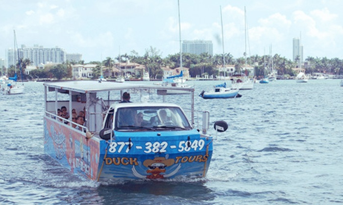 Duck Tours Florida - Multiple Locations: $22 for Amphibious Tour and Choice of Framed Photo or Souvenir Ducky Hat at Duck Tours Florida ($42 Value)
