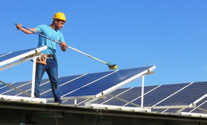 Solar Panel Cleaning for 6 ($30), 10 ($49) or 14 Panels ($69) with Action Property Maintenance (Up to $420 Value)