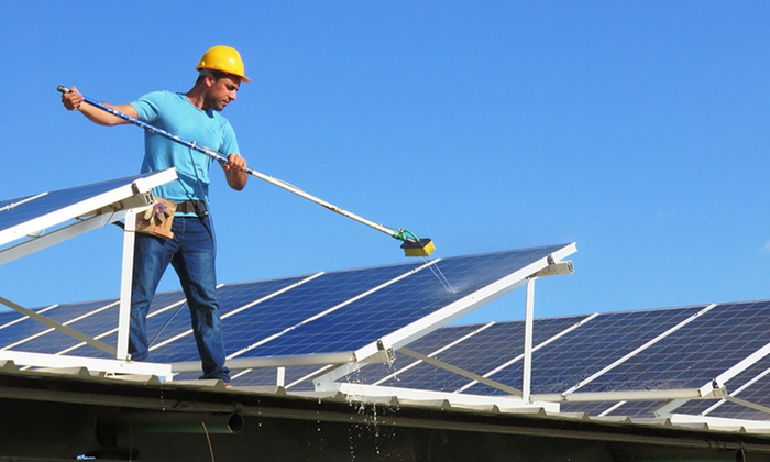 Ideal Window Cleaniing - Sacramento: $150 for Solar-Panel Cleaning on a One-Story Home from Ideal Window Cleaning ($300 Value)