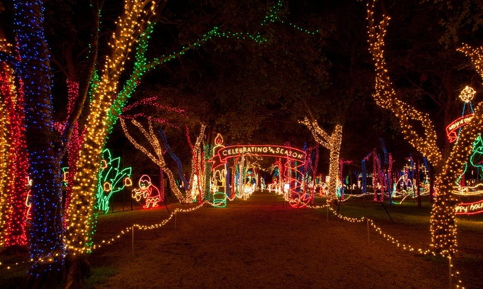 City of Grand Prairie - Lynn Creek Park: Drive-Thru Holiday-Light Park with Two or Four Combo Show tickets from City of Grand Prairie (Up to 44% Off)