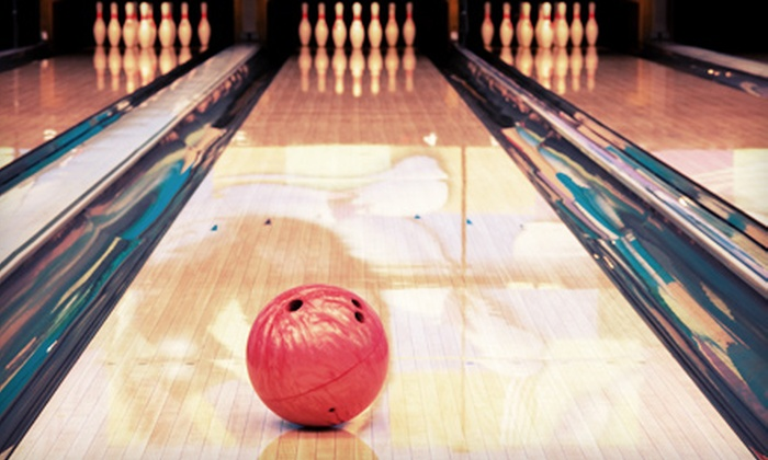 The Fast Lane Bowling and Party Center - Magic City Plaza: $32 for Bowling for Up to Six and One 16-Inch Pizza at The Fast Lane Bowling and Party Center ($78 Value)