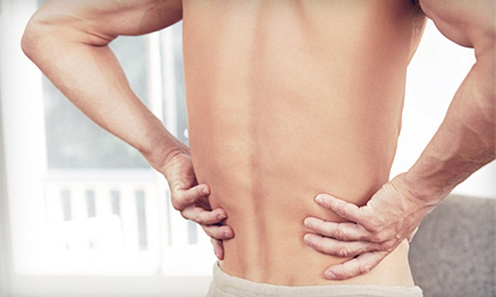 Canadian Decompression & Pain Center - South End: Back-Pain Consultation with One or Two Therapeutic Massages at Canadian Decompression & Pain Center (69% Off)
