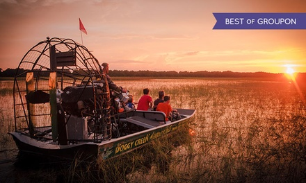 60-Minute Airboat Sunset Tour for Two or Four from Boggy Creek Airboat Rides (Up to 45% Off)