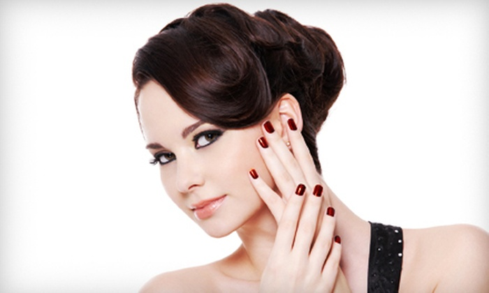 Mix Salon and Spa - Byward Market - Parliament Hill: Elegant Updo and Manicure for One or Five at Mix Salon and Spa (Up to 58% Off)