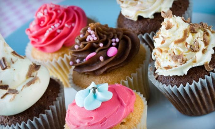 Simply Cupcakelicious - Alpharetta: Office-Size Batch of 50 Mini Cupcakes or a Dozen Premium Cupcakes from Simply Cupcakelicious in Alpharetta