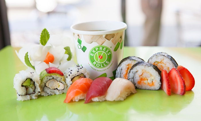 Express Rolls - Multiple Locations: $6 for $12 Worth of Sushi and Bento Boxes at Express Rolls