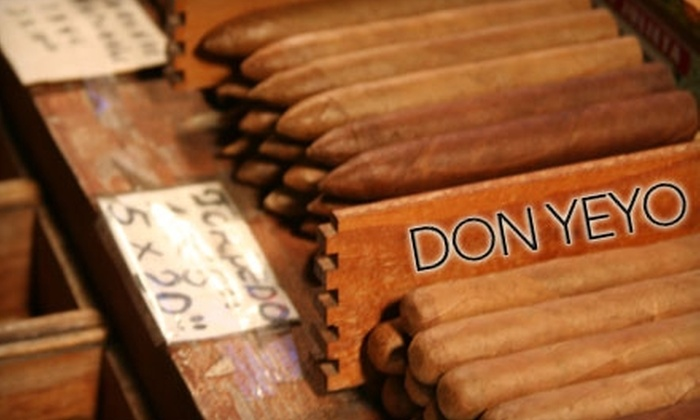 Don Yeyo Cigar Factory - Las Vegas: $10 for $20 Worth of Cigars at Don Yeyo Cigar Factory