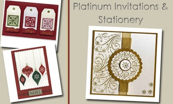 Platinum Invitations & Stationery  - Denver: $30 for 15 Handmade Christmas Cards from Platinum Invitations and Stationery