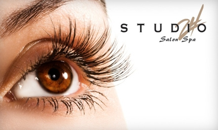 Studio 24 SalonSpa - Multiple Locations: $150 for Set of Eyelash Extensions and Touch-Up Discount at Studio 24 SalonSpa (Up to $313 Value)