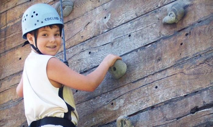 Wilderness Adventure at Eagle Landing - New Castle: $17 for Outdoor-Sports Package with Zipline and Climbing-Wall Pass at Wilderness Adventure at Eagle Landing ($35 Value)