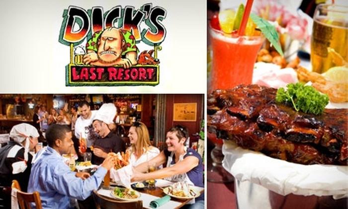 Dick's Last Resort - Oak Lawn: $10 for $25 Worth of Casual Cuisine at Dick's Last Resort
