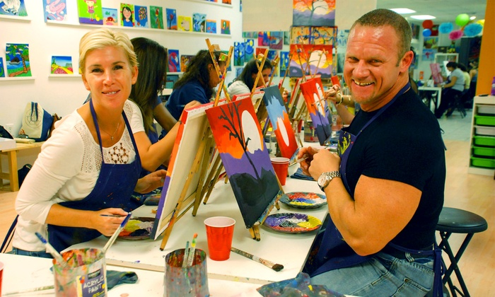 A Painting Fiesta - Coral Springs: $24 for a 2.5-Hour BYOB Painting Class for One at A Painting Fiesta in Coral Springs ($45Value)