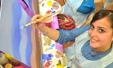 Up to 60% Off Wine and Painting Classes at Heartsy