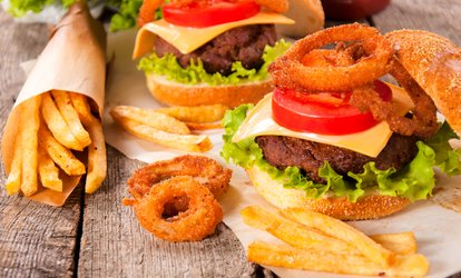 Chicken or Beef Burger with Onion Rings and Chips for Two or Four at Solo Restaurant (Up to 40% Off)