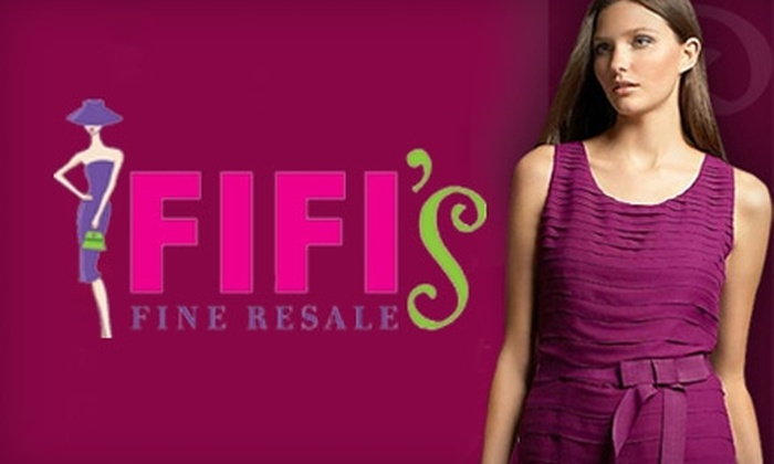 Fifi's Fine Resale - Charlotte: $35 for $75 Worth of Clothing, Shoes, and Accessories at Fifi's Fine Resale in Cornelius