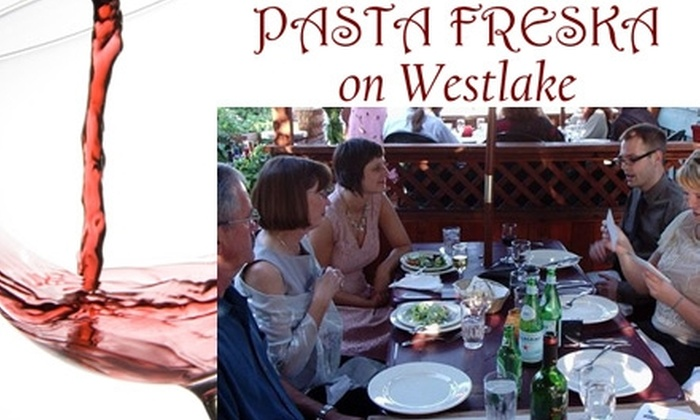 Pasta Freska - Westlake: $17 for $40 Worth of Savory, Customized Italian Dishes at Pasta Freska