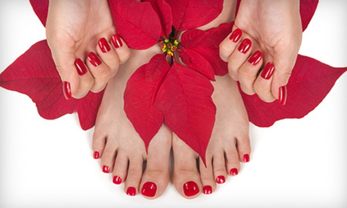 Angela Nails And Spa - Cypress Park: Deluxe Pedicure with Option for Gel-Polish Manicure at Angela Nails and Spa (Up to 52% Off)