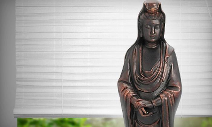 Oriental Furniture: Statue of Kwan Yin or Authentic Asian Furniture from Oriental Furniture