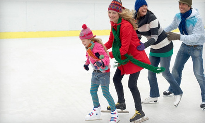 ICE at The Parks - The Parks At Arlington: Ice-Skating for 2, 4, or 10 with Skate Rentals at Ice at The Parks in Arlington (Up to 55% Off)