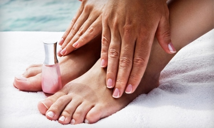 The Hare Hut - Lawrence Park: $20 for a Mani-Pedi Package at The Hare Hut ($39 Value)