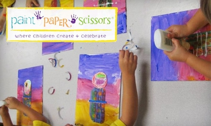 Paint Paper Scissors - San Antonio: $10 for an Art Explorer Family Pass at Paint Paper Scissors ($20 value)