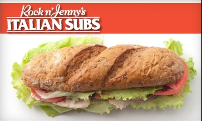 Rock n' Jenny's Italian Subs - Central Escondido: $5 for $10 Worth of Subs and More at Rock n' Jenny's Italian Subs in Escondido