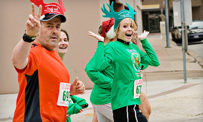 2011 Total Jingle Bell Run and Walk - Washington Ave./ Memorial Park: Individual or Family Entry in the 2011 Total Jingle Bell Run and Walk for Tellepsen Family Downtown YMCA (Up to 53% Off)
