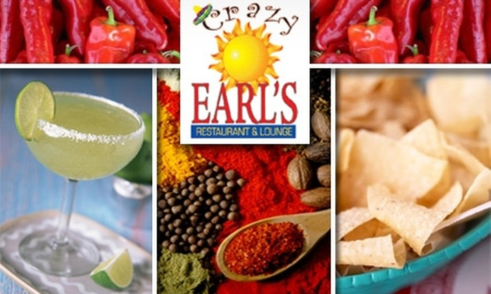 Crazy Earls Restaurant & Lounge - Peoria: $15 for $35 Worth of Eclectic Cuisine and Margaritas at Crazy Earl's Restaurant & Lounge