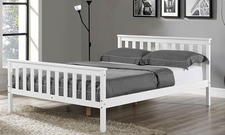 Marco de cama y colchón doble o king Hampton