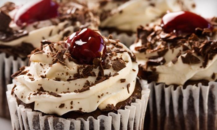 Lady D Cupcakery & Chocolate Factory - Saddle Bridge: $19 for One Dozen Regular or Alcohol-Infused Cupcakes at Lady D Cupcakery & Chocolate Factory in Alpharetta ($50 Value)