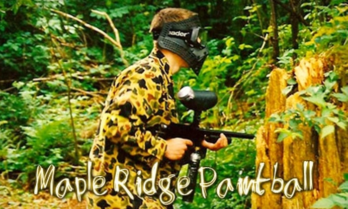 Maple Ridge Paintball - Maple Ridge: $29 for an All-Day Pass, Equipment, and 100 Paintballs for Two People at Maple Ridge Paintball