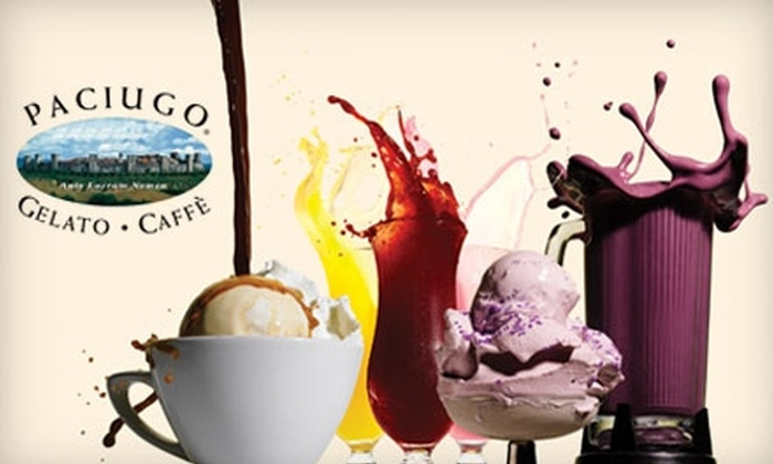 Paciugo - Upper Christiana: $5 for $10 Worth of Gelato, Coffee, and Other Frozen Treats at Paciugo