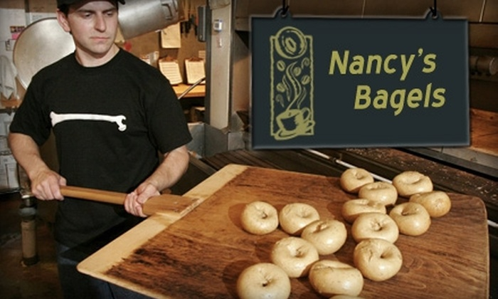 Nancy's Bagel Grounds - Clifton: $6 for One Dozen Bagels and Cream Cheese at Nancy's Bagel Grounds ($12.67 Value)