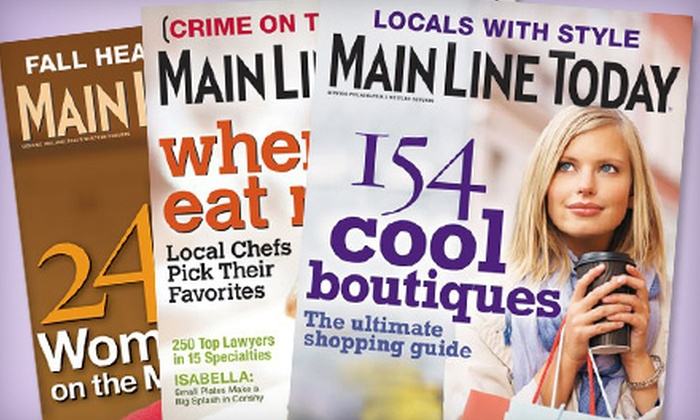 """Main Line Today magazine - Sellersville: $7 for a One-Year Subscription to """"Main Line Today"""" Magazine ($14.97 Value)"""