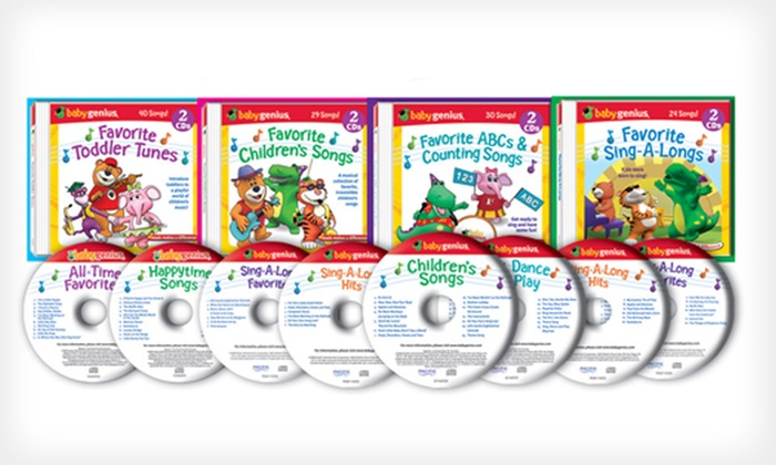 Baby Genius DVD and CD Collections: Baby Genius Five-DVD Set or Eight-Disc CD Collection (Up to 60% Off). Free Shipping.