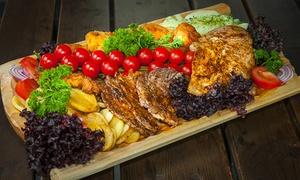 """Restauracja & Grill """"DOBRE SMAKI"""": Swojska uczta: koryto z grillowanym mięsem i więcej dla 10 osób za 129,99 zł i więcej w Restauracja & Grill Dobre Smaki"""
