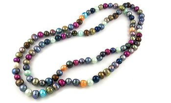 Multicoloured Pearl Necklace