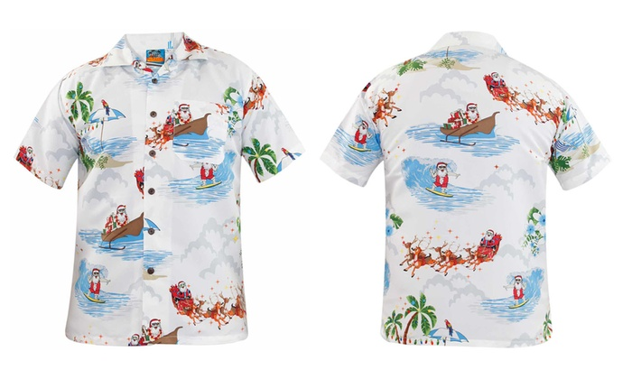 Christmas Hawaiian Shirt Australia.Christmas Hawaiian Shirts Groupon Goods