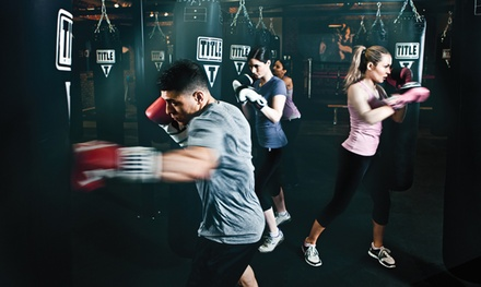 Two Weeks of Boxing and Kickboxing Classes with Gloves and Hand Wraps at TITLE Boxing Club (Up to 48% Off)