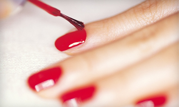 Tryst Hair Boutique and Spa - Chino Hills: $14 for Chip-Free Shellac or Gelish Manicure at Tryst Hair Boutique and Spa in Chino Hills (Up to $30 Value)