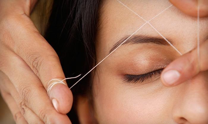 Patel's Threading & Henna Art - Multiple Locations: Eyebrow Threading or Full-Face Threading at Patel's Threading & Henna Art (Up to 51% Off)