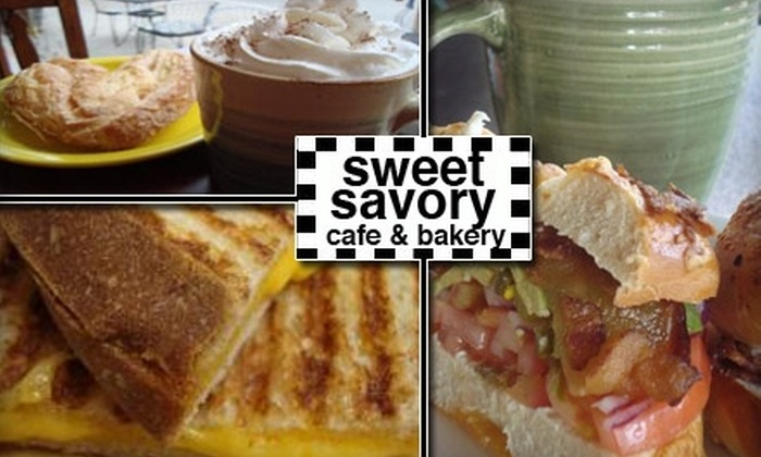 Sweet Savory Café and Bakery - Multiple Locations: $5 for $10 Worth of Freshly Baked Bread and Bistro Fare at Sweet Savory Café and Bakery
