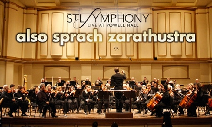 """St. Louis Symphony - Grand Center: One Ticket to the St. Louis Symphony's """"Also sprach Zarathustra"""" Performance. Choose from Two Dates and Three Seating Options."""