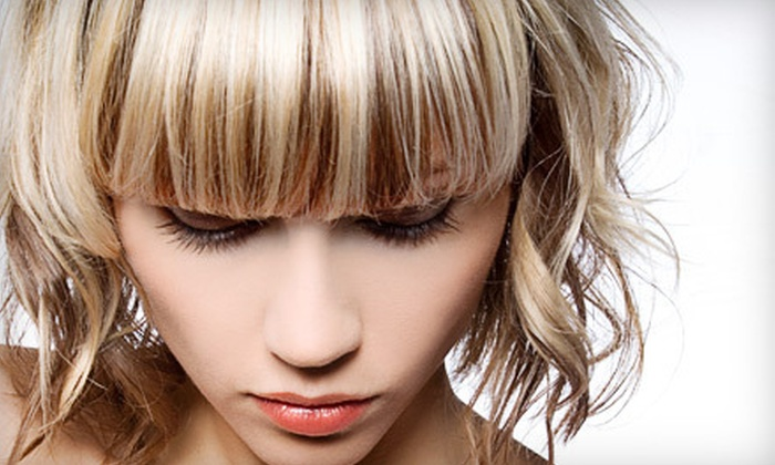 Paragon Hair and Nails - San Sebastian Commerce Center: Haircut Package with Optional Full or Partial Highlights at Paragon Hair and Nails in Altamonte Springs (Up to 80% Off)